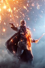 Preview iPhone wallpaper Battlefield 1, EA game, sparks