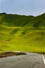 Preview iPhone wallpaper Beautiful Gannan, green hills, road, China