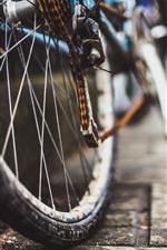 Preview iPhone wallpaper Bike, wheel, chain, rusty