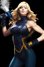 Preview iPhone wallpaper Black Canary, superhero, girl, DC Comics