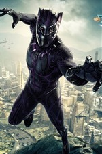 Preview iPhone wallpaper Black Panther, 2018 movie, DC Comics