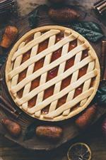 Bread, pie, apple, food