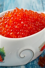 Preview iPhone wallpaper Caviar, food, fish shaped bowl