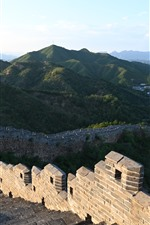 Preview iPhone wallpaper Chinese travel place, Great Wall, steps, ruins, mountains