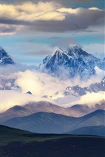 Preview iPhone wallpaper Chuanxi beautiful nature landscape, mountains, clouds