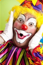 Preview iPhone wallpaper Clown, colorful clothes, makeup