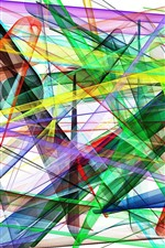 Colorful forms, lines, abstract picture, white background