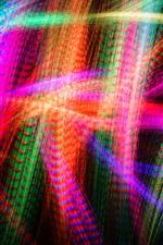 Linhas de luz coloridas, imagens abstratas