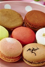 Preview iPhone wallpaper Colorful macaroon, cake, dessert