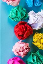 Colorful paper balls, art picture