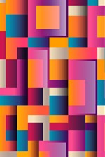 Preview iPhone wallpaper Colorful squares, geometric, abstract background