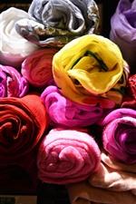 Toalhas coloridas, tecido