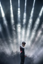 Preview iPhone wallpaper Concert, stage, lighting, smoke