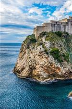 Croácia, dubrovnik, fortaleza, pedras, mar
