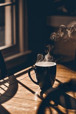 Cup, steam, window