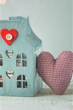 Vorschau des iPhone Hintergrundbilder Dekoration, Haus, Liebesherz, Geschenk