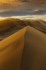 Preview iPhone wallpaper Desert, dunes, clouds, sunset