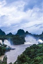 Preview iPhone wallpaper Detian Waterfall, Guangxi, China