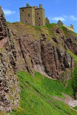 Dunnottar Castle, Inglaterra, costa, mar, rochas
