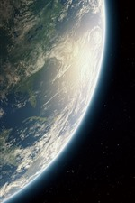 Preview iPhone wallpaper Earth, planet, spaceship, universe
