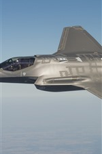 Preview iPhone wallpaper F-35 fighter, sky