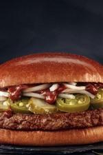 Preview iPhone wallpaper Fast food, hamburger