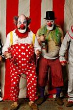 Preview iPhone wallpaper Five clowns