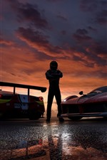 Preview iPhone wallpaper Forza Motorsport 7, supercars, dusk