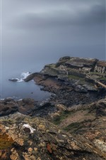 Preview iPhone wallpaper France, Brittany, fortress, ruins, sea