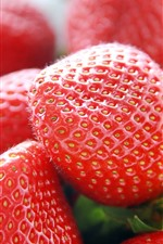 Preview iPhone wallpaper Fresh strawberries close-up, fruit