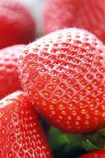 Aperçu iPhone fond d'écranGros plan de fraises fraîches, fruits
