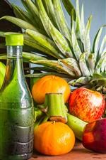Preview iPhone wallpaper Fruit, banana, orange, apple, pineapple, drinks