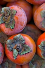 Preview iPhone wallpaper Fruit, persimmon