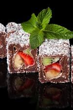 Preview iPhone wallpaper Fruit rolls, powdered sugar, dessert