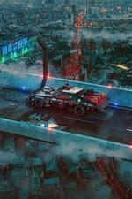Future city, road, supercar, Japan