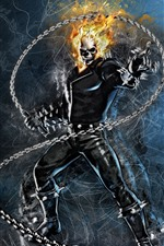 Preview iPhone wallpaper Ghost Rider, Marvel, DC comics, art picture