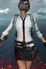 Garota, arma, campos de batalha do PlayerUnknown