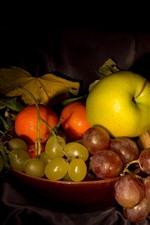 iPhone fondos de pantalla Uvas, manzana, rosa, linterna, naturaleza muerta