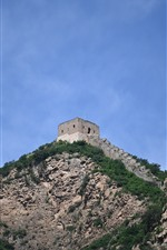 Preview iPhone wallpaper Great Wall, ruins, blue sky