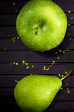Preview iPhone wallpaper Green apple and pear, kiwi, fruit