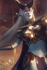 Heroes of Newerth, girl, horns