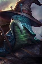 Preview iPhone wallpaper Heroes of Newerth, snail, hat