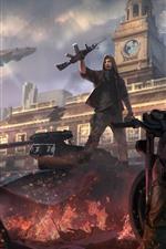 iPhone fondos de pantalla Homefront: The Revolution, juego, ruinas