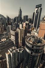 미리보기 iPhone 배경 화면 홍콩, 도시 풍경, 고층 빌딩