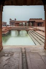 Índia, Agra, edifícios, pessoas