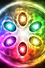 Preview iPhone wallpaper Infinity gems, colorful light