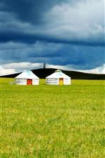 Preview iPhone wallpaper Inner Mongolia grassland, yurt