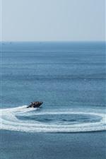 Ilha de Jeju, lindo mar, barco