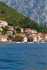 Kotor, Montenegro, casas, mar, cidade
