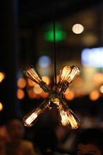 Lâmpada, quente, noite